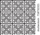 seamless geometric background.... | Shutterstock .eps vector #718732321