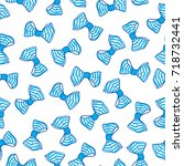 seamless pattern with bows.... | Shutterstock .eps vector #718732441