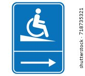 signal ramp down handicapped ... | Shutterstock .eps vector #718735321