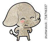 cute cartoon elephant | Shutterstock .eps vector #718746337