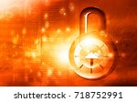 cyber security concept. 3d... | Shutterstock . vector #718752991