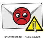 do not open email attachments.... | Shutterstock . vector #718763305