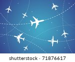 vector illustration of airplane ... | Shutterstock .eps vector #71876617