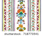 eastern european embroidery... | Shutterstock . vector #718773541
