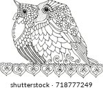 hand drawn birds. sketch for... | Shutterstock .eps vector #718777249