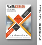 abstract flyer design... | Shutterstock .eps vector #718778119