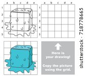 copy the picture using grid... | Shutterstock .eps vector #718778665