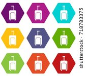 travel suitcase icon set many... | Shutterstock .eps vector #718783375