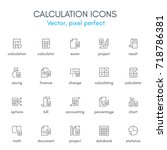 calculation theme  line icon...   Shutterstock .eps vector #718786381
