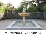 artisan fountain in the middle... | Shutterstock . vector #718788589