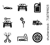 lock icons set. simple set of 9 ... | Shutterstock .eps vector #718789825
