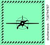 sport plane icon  private... | Shutterstock .eps vector #718794787
