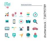 navigation  direction  maps ... | Shutterstock .eps vector #718795789