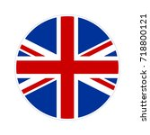 united kingdom flag button icon.