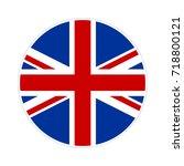 united kingdom flag button icon.