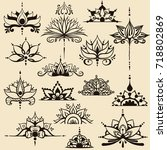 fifteen freehand drawings of... | Shutterstock .eps vector #718802869