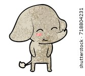 cute cartoon elephant | Shutterstock .eps vector #718804231
