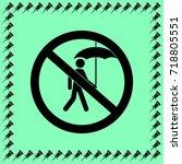no wet umbrella sign vector...   Shutterstock .eps vector #718805551