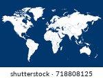 world map | Shutterstock .eps vector #718808125