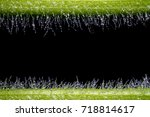 Close Up Image Of Droplets Are...