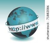 globe internet | Shutterstock .eps vector #71882086