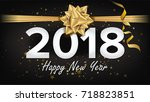 happy new year 2018 background... | Shutterstock .eps vector #718823851