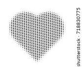 heart gradient halftone hearts... | Shutterstock .eps vector #718830775