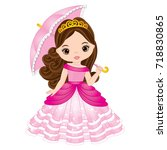 vector beautiful princess in... | Shutterstock .eps vector #718830865