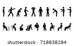 vector man stick figure. person.... | Shutterstock .eps vector #718838284