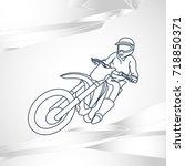 motor sport vector logo icon... | Shutterstock .eps vector #718850371