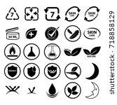 skin care icon vector... | Shutterstock .eps vector #718858129