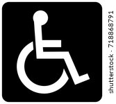 disability information icon | Shutterstock .eps vector #718868791