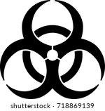 biohazard warning sign | Shutterstock .eps vector #718869139
