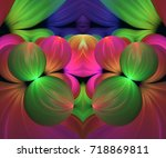 computer generated fractal... | Shutterstock . vector #718869811