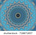blue east ornament  islamic ... | Shutterstock . vector #718871857