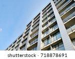 modern  luxury apartment... | Shutterstock . vector #718878691