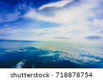beautiful sunrise on view point ... | Shutterstock . vector #718878754