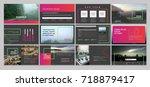 original presentation templates ... | Shutterstock .eps vector #718879417