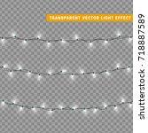christmas lights isolated... | Shutterstock .eps vector #718887589