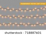 christmas lights isolated... | Shutterstock .eps vector #718887601
