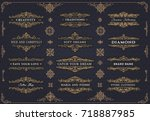 collection of templates.... | Shutterstock .eps vector #718887985