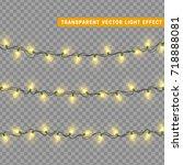 christmas lights isolated... | Shutterstock .eps vector #718888081