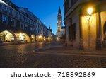 townhall goerlitz untermarkt... | Shutterstock . vector #718892869