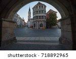townhall goerlitz untermarkt... | Shutterstock . vector #718892965