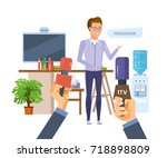 presentation  business seminar... | Shutterstock .eps vector #718898809