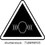 high volume warning sign... | Shutterstock .eps vector #718898935