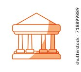 bank building symbol | Shutterstock .eps vector #718899889