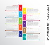 vector infographic templates... | Shutterstock .eps vector #718906615