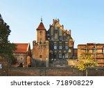 view of old torun.  poland | Shutterstock . vector #718908229