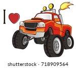 Stock photo i love bigfoot car 718909564
